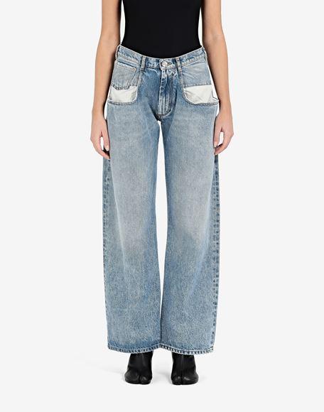 MAISON MARGIELA Vaqueros rectos con bolsillos en contraste Pantalones vaqueros Mujer a