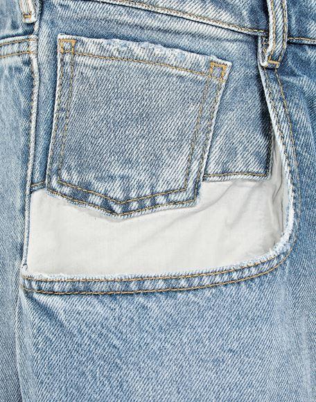 MAISON MARGIELA Vaqueros rectos con bolsillos en contraste Pantalones vaqueros Mujer b