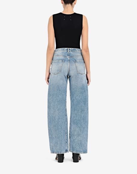 MAISON MARGIELA Vaqueros rectos con bolsillos en contraste Pantalones vaqueros Mujer e