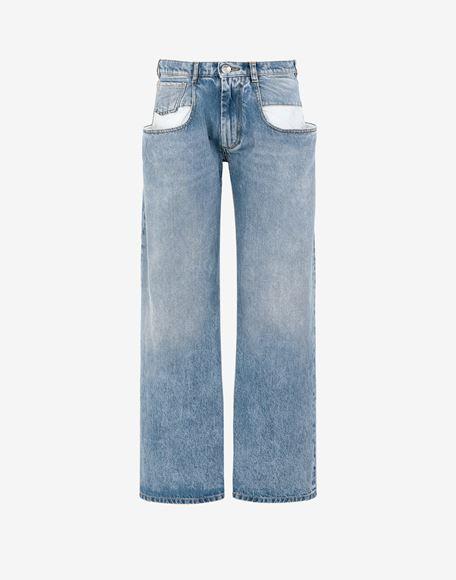 MAISON MARGIELA Vaqueros rectos con bolsillos en contraste Pantalones vaqueros Mujer f