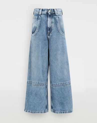 MAISON MARGIELA Jeans Woman Panelled-hem flared leg pants f