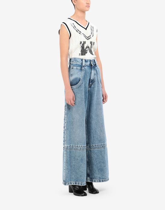 MAISON MARGIELA Panelled-hem flared leg pants Jeans [*** pickupInStoreShipping_info ***] d