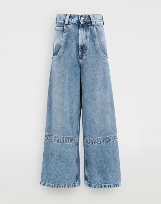 MAISON MARGIELA Panelled-hem flared leg pants Jeans [*** pickupInStoreShipping_info ***] f