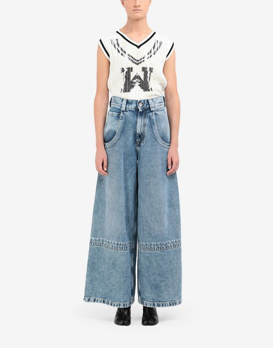 MAISON MARGIELA Panelled-hem flared leg pants Jeans [*** pickupInStoreShipping_info ***] r