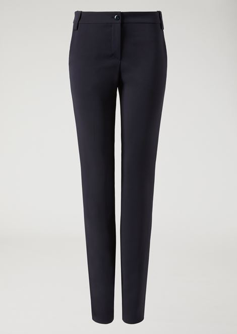 Trousers in stretch tricotine