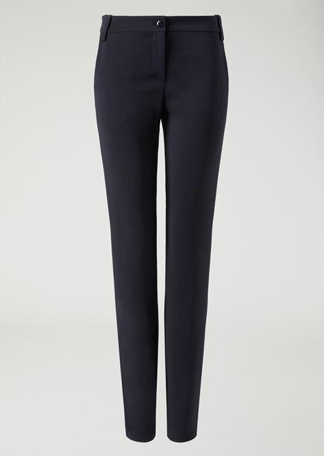 Pantalones de punto elástico