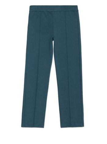 Marni PETROL BLUE STRETCH COTTON PANTS WITH POCKET DETAIL Woman
