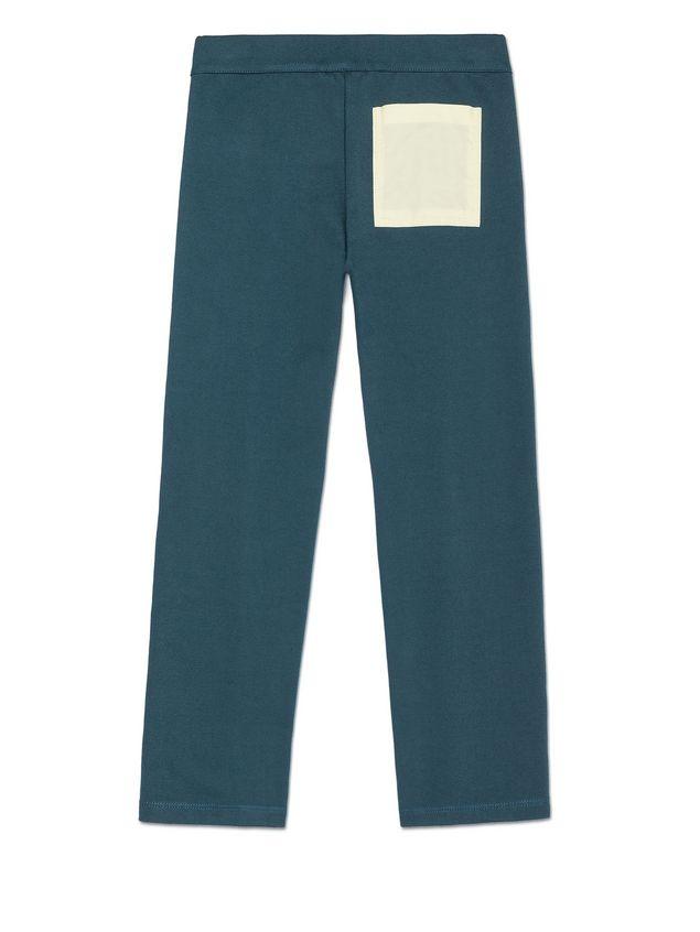Marni PETROL BLUE STRETCH COTTON PANTS WITH POCKET DETAIL Woman