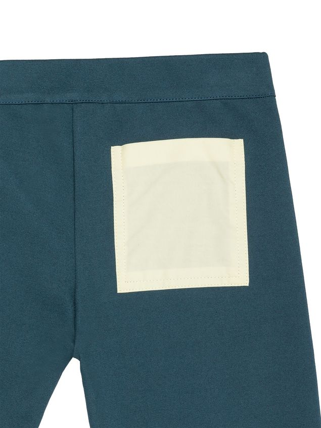Marni PETROL BLUE STRETCH COTTON PANTS WITH POCKET DETAIL Woman - 4