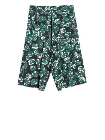 Marni VISCOSE SHORTS WITH POETRY FLOWER PRINT Woman