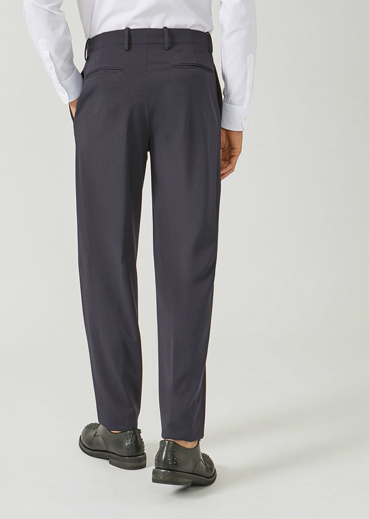 EMPORIO ARMANI Classic loose stretch wool trousers Casual Trousers Man e