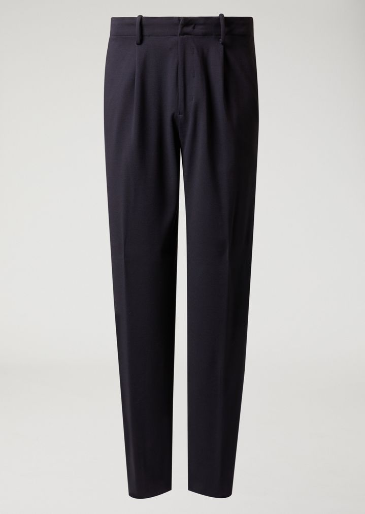 EMPORIO ARMANI Classic loose stretch wool trousers Casual Trousers Man r