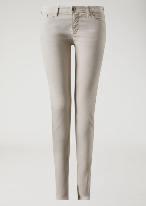 Trousers in stretch needlecord