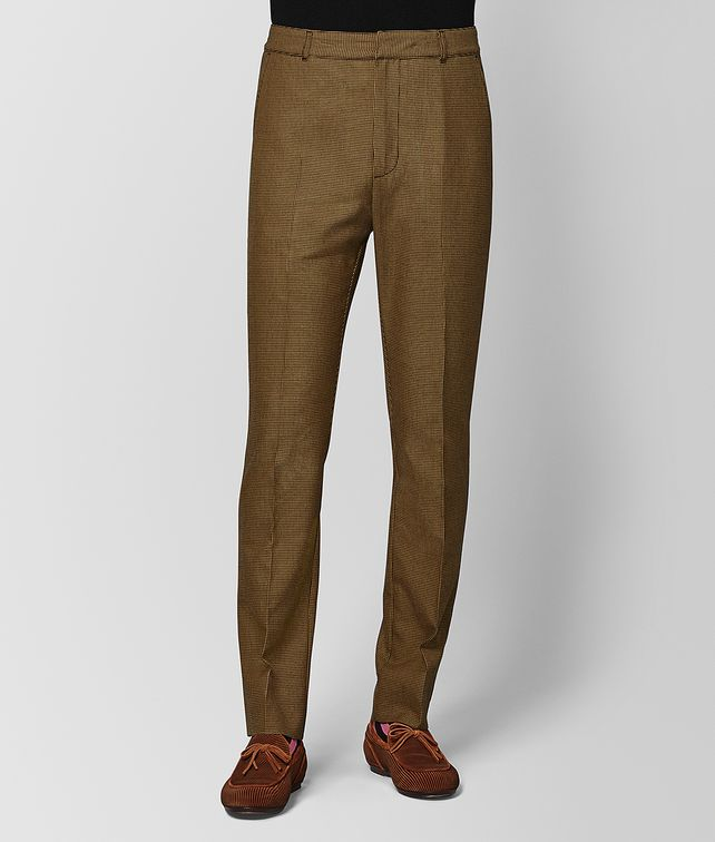 BOTTEGA VENETA CAMEL/NERO WOOL PANT Trouser or jeans Man fp