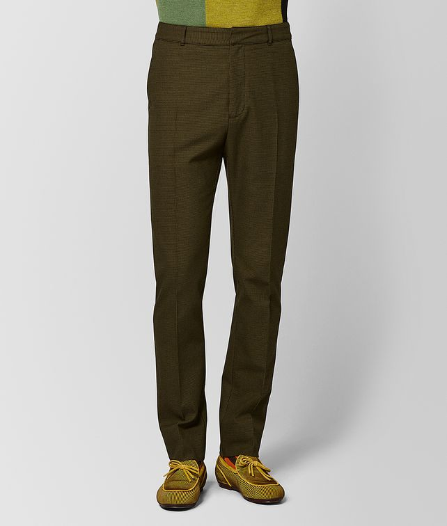 BOTTEGA VENETA MUSTARD/NERO WOOL PANT Trouser or jeans [*** pickupInStoreShippingNotGuaranteed_info ***] fp