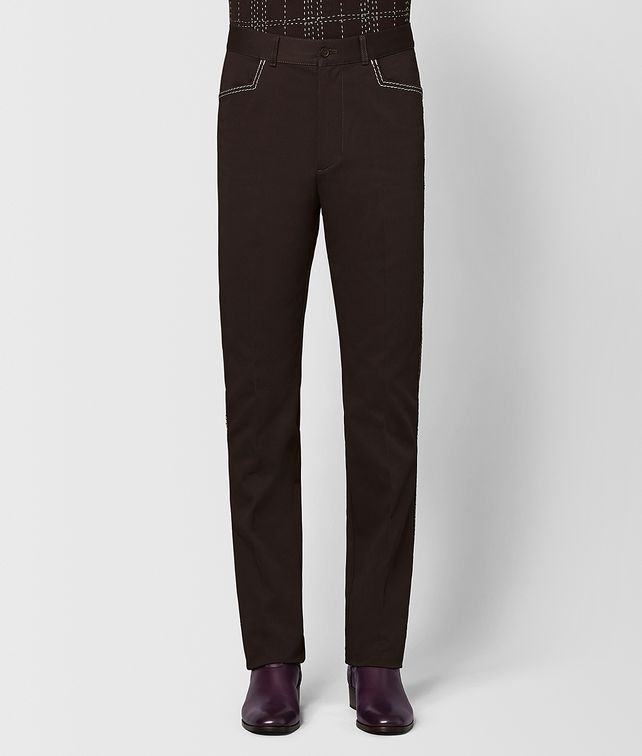 BOTTEGA VENETA ESPRESSO COTTON PANT Trouser or jeans [*** pickupInStoreShippingNotGuaranteed_info ***] fp