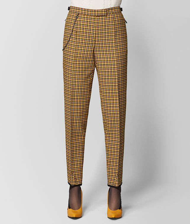 BOTTEGA VENETA DARK CAMEL/MUSTARD WOOL PANT Skirt or trouser [*** pickupInStoreShipping_info ***] fp