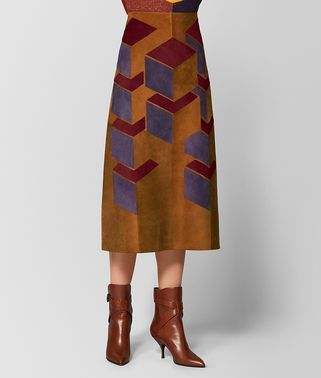 MULTICOLOR SUEDE SKIRT