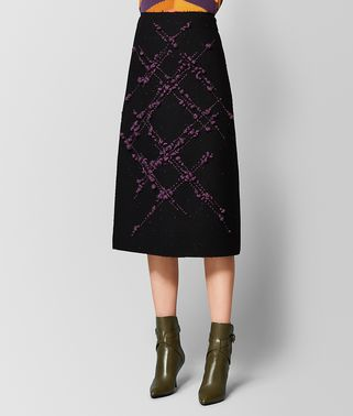 NERO/GRAPE WOOL SKIRT