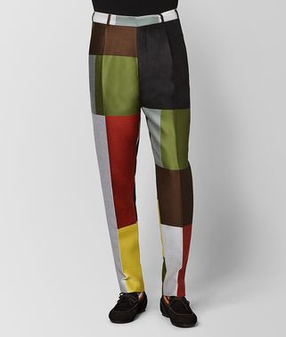 PANTALONE IN LANA MULTICOLOR