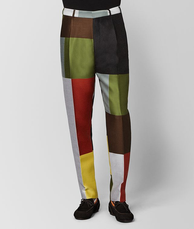 BOTTEGA VENETA MULTICOLOR WOOL PANT Trouser or jeans Man fp