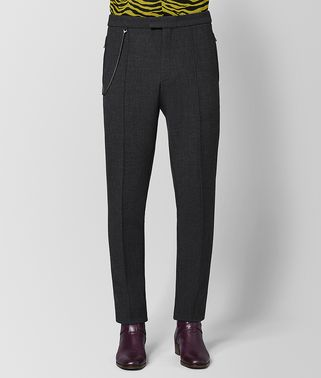 PANTALONE IN LANA DARK GREY