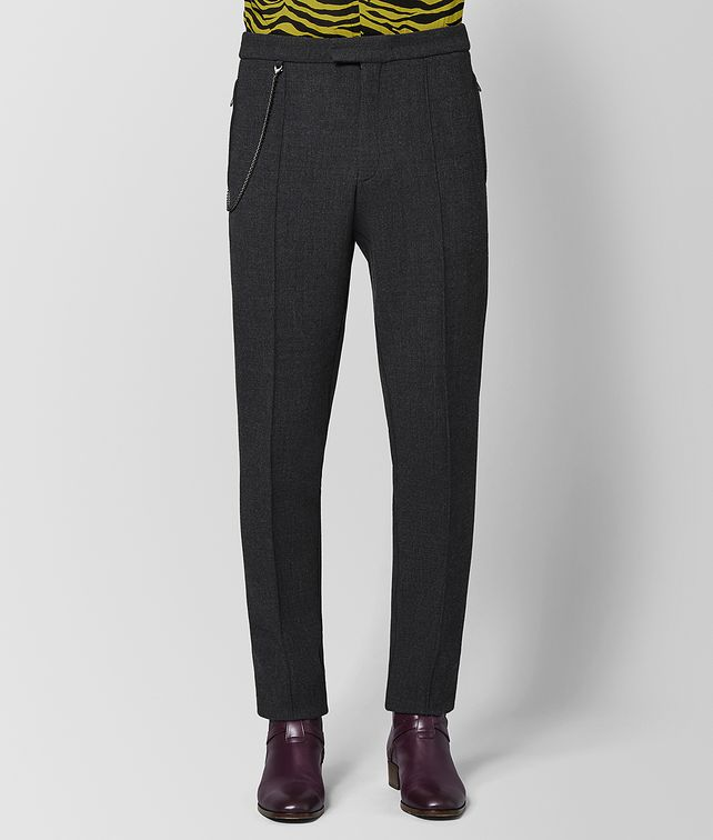 BOTTEGA VENETA DARK GREY WOOL PANT  Trouser or jeans Man fp