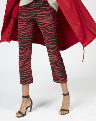 ISABEL MARANT ÉTOILE TROUSER Woman APOLO zebra trousers r