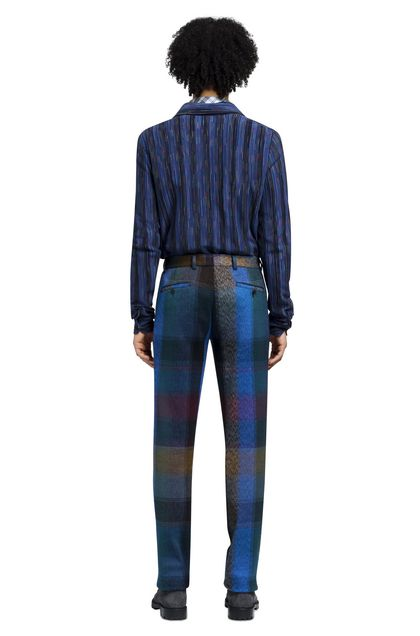 MISSONI Trouser Blue Man - Front