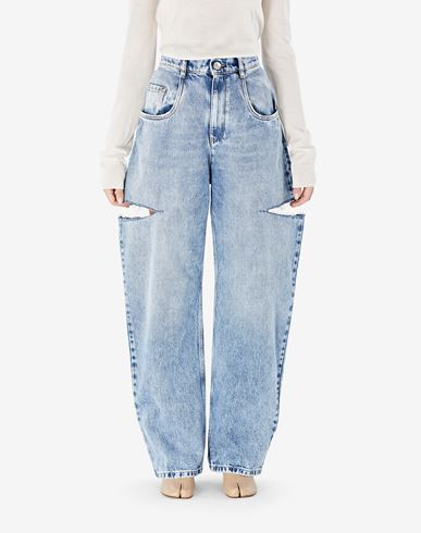 PANTS Denim jeans with slash details
