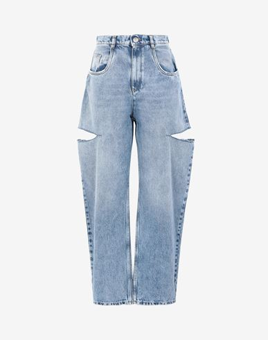 MAISON MARGIELA Jeans Woman Denim jeans with slash details f
