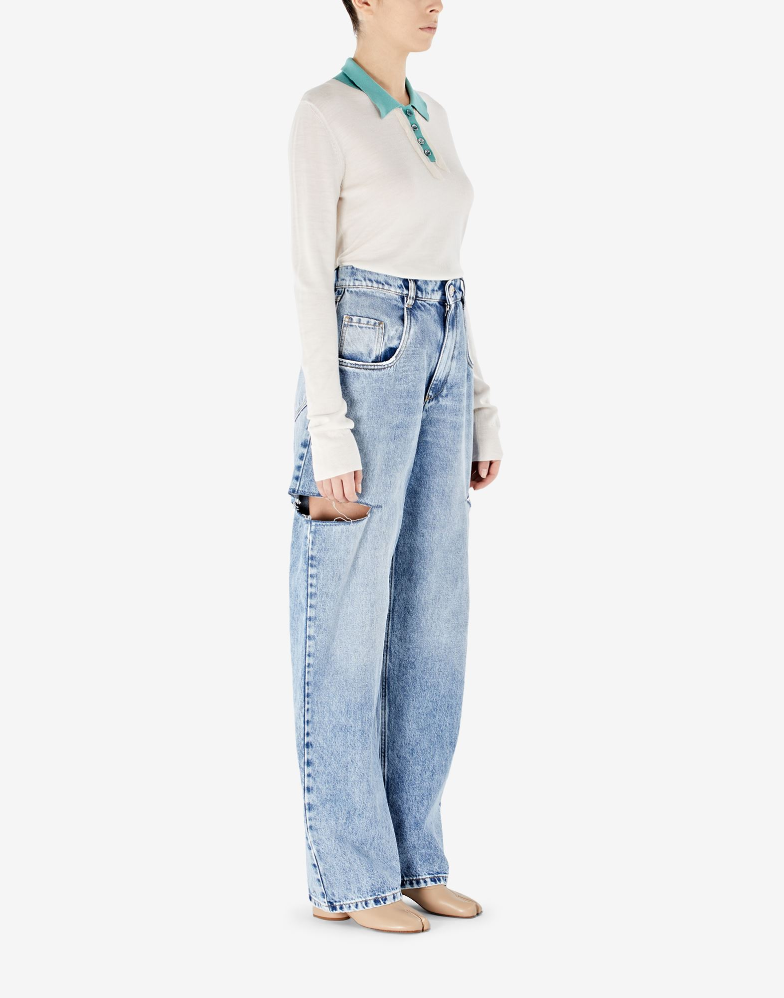 MAISON MARGIELA Denim jeans with slash details Jeans Woman d