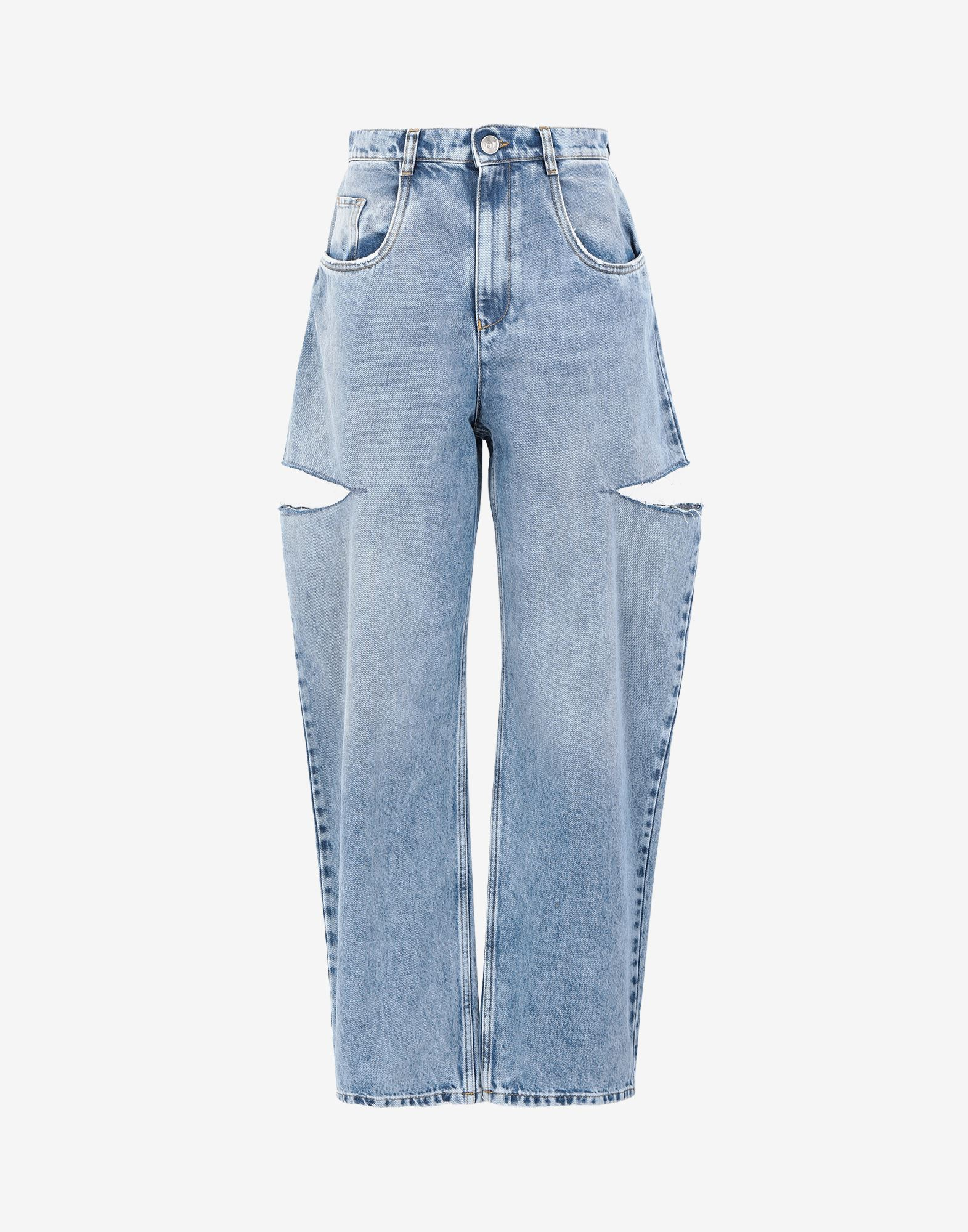MAISON MARGIELA Denim jeans with slash details Jeans Woman f