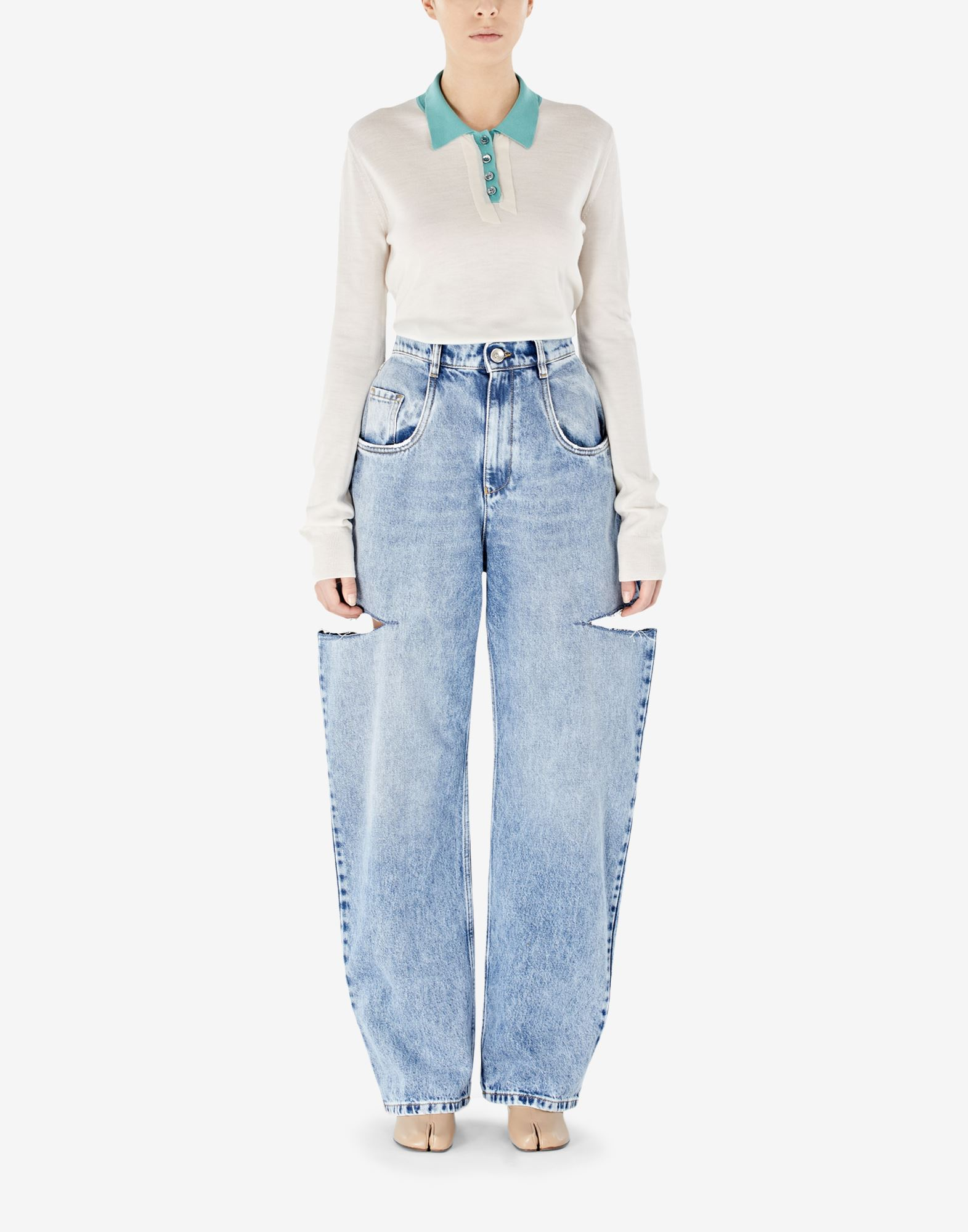 MAISON MARGIELA Denim jeans with slash details Jeans Woman r