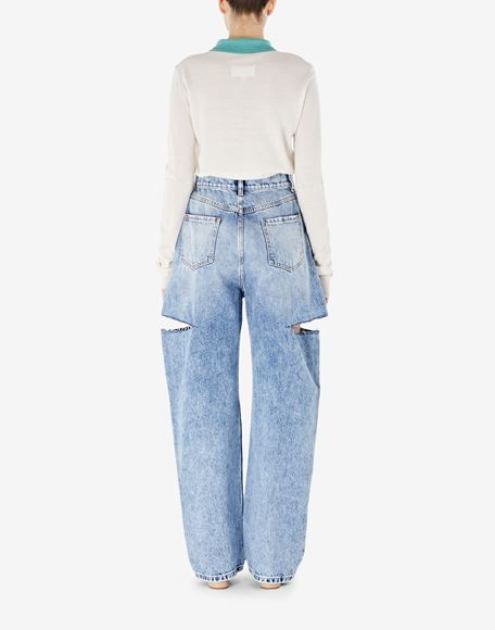 MAISON MARGIELA Denim jeans with slash details Jeans Woman e