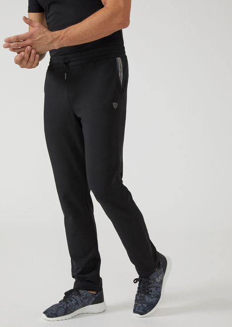 French terry stretch cotton joggers