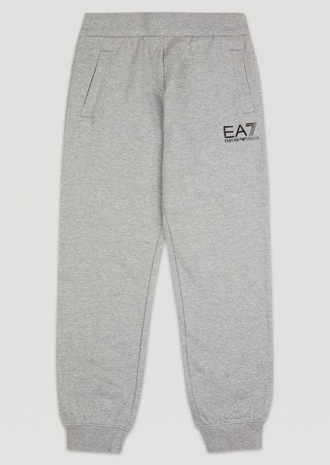 Boys' cotton joggers with EA7 logo