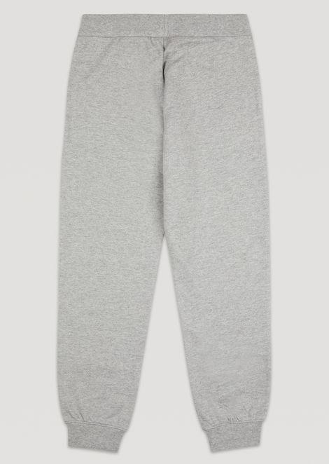 Pantalones deportivos de algodón con logotipo EA7 para niño