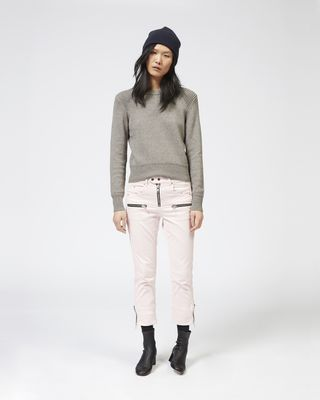 PELONI zipped denim trousers