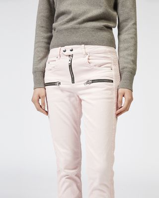 ISABEL MARANT ÉTOILE JEANS Woman PELONI zipped denim trousers r