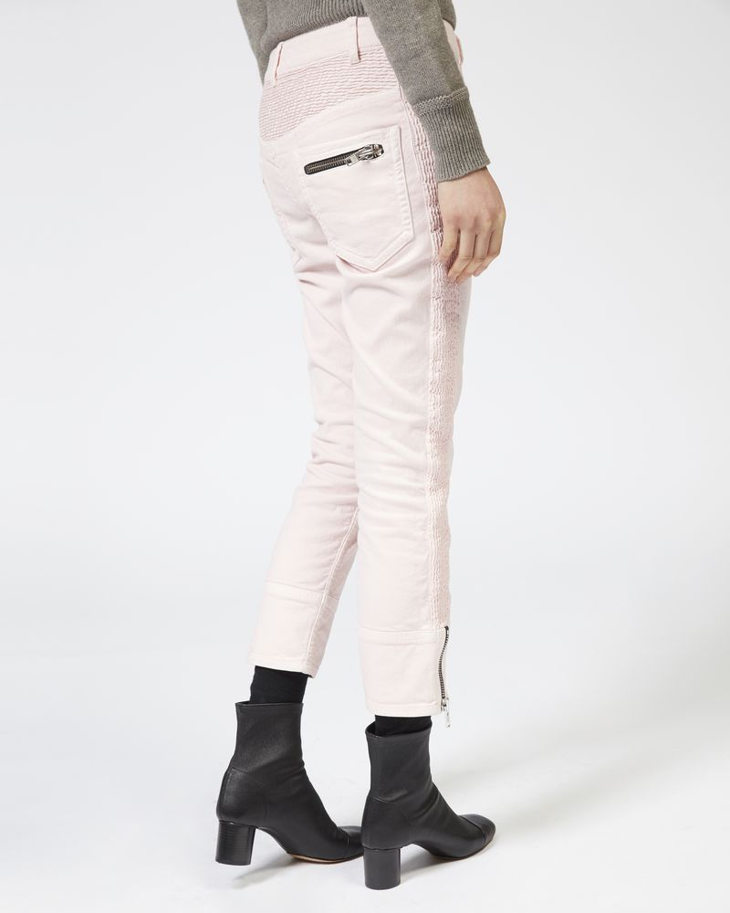 PELONI Pantaloni in denim con zip ISABEL MARANT ÉTOILE