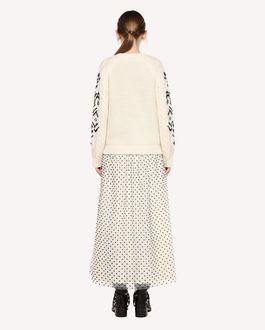 REDValentino Alpaca Flocked Tulle Skirt