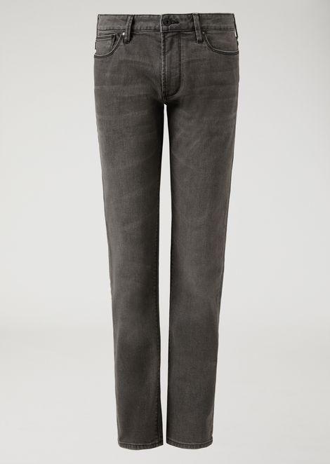 J06 slim-fit 11 oz comfort cotton twill denim jeans