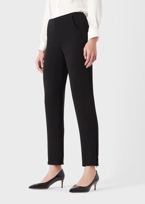 Cigarette trousers in pure silk