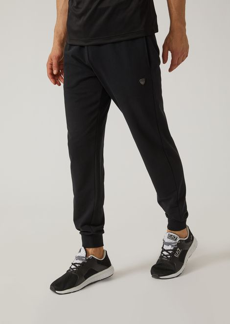 Pantaloni joggers in cotone french terry stretch