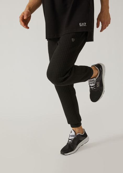 Quilted interlock joggers