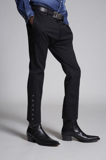 DSQUARED2 Chic Stretch Wool Cigarette Pants Брюки Для Мужчин