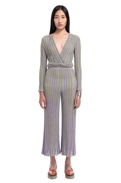 MISSONI 3/4-length trousers Lilac Woman - Back