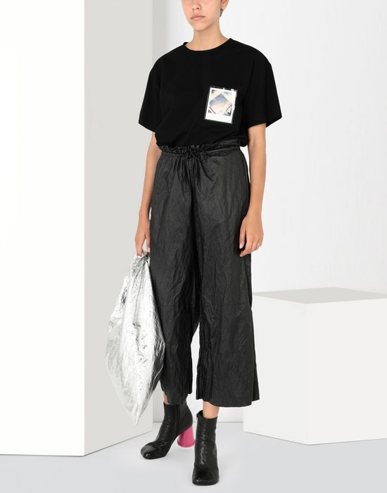 MM6 MAISON MARGIELA Crinkled wide-leg cropped pants Casual pants [*** pickupInStoreShipping_info ***] r