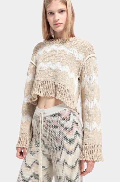 MISSONI 3/4-length short Beige Woman - Front